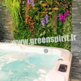 Green Spirit - MUR VEGETAL ARTIFICIEL - PARTICULIER PAR ARCHITECTE - Le Minihic sur Rance (35)