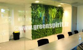 Green Spirit - MUR VEGETAL ARTIFICIEL - SIEGE BARAT CORPORATE - Merignac (33)