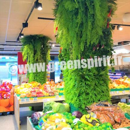 Green Spirit - MUR VÉGÉTAL ARTIFICIEL - SUPERMARCHÉ INTERMARCHÉ - Chevilly Larue (94)